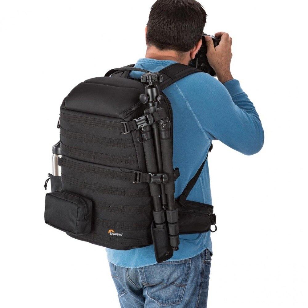 Genuino Lowepro ProTactic 450 aw hombro Cámara bolsa SLR Cámara bolsa Laptop mochila con todas las cubiertas meteorológicas 15,6 pulgadas portátil - 6