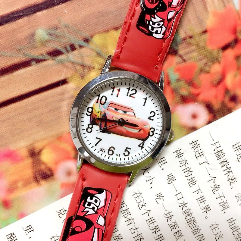 Animated Cartoon Children Watch 2019  Hot-selling Cartoon Cars Quartz Kids Watch