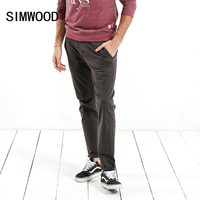 SIMWOOD Casual Pants Men Skinny Zipper Fly High Quality Trousers Slim Fit 2017 Winter New Brand