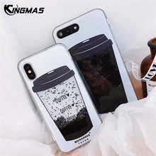 For OPPO R15 R15 Dream A83 A59 A57 A39 Phone case Liquid Quicksand Dynamic Liquid Cover Instagram luxury Coffee Cup shell Coque