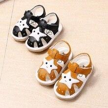 Новые поступления в лето 2018 Южная Корея мальчиков коровьей подошва детские сандалии обувь малыша для маленьких девочек мальчик обувь gu18520