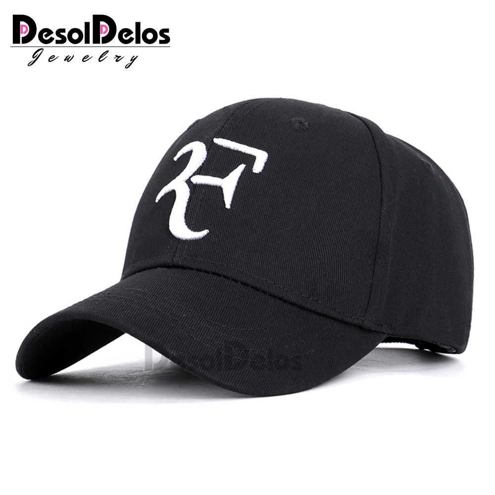 Roger Federer RF Men Baseball Caps Cotton casual hip-hop cap Adjustable sports hat 2019