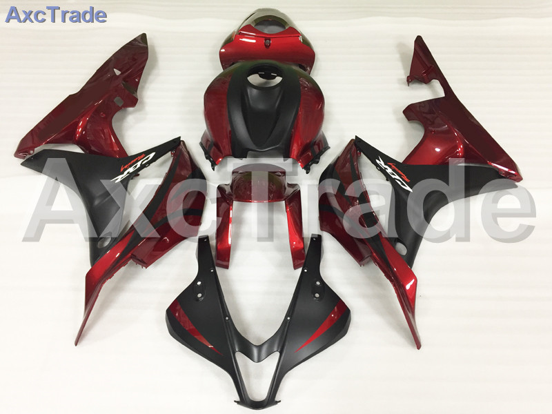 Motorcycle Fairings For Honda CBR600RR CBR600 CBR 600 RR 2007 2008 F5 ABS Plastic Injection Fairing Bodywork Kit Red Black A611 abs injection fairings kit for honda 600 rr f5 fairing set 07 08 cbr600rr cbr 600rr 2007 2008 castrol motorcycle bodywork part