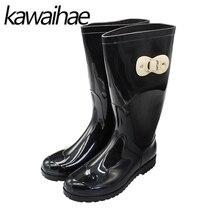 2017 осень-зима дождь обувь женские сапоги женские водонепроницаемые резиновые сапоги Kawaihae 058