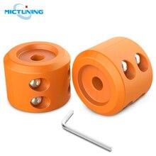 MICTUNING bouchon de crochet de câble Orange avec clé Allen pour treuil ATV UTV, 2 pièces, en caoutchouc Durable, économiseur de ligne, câble Orange