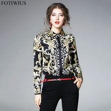 2ada2244b59 Высокое качество Женская мода 2018 Подиум дизайнерская рубашка женская с  длинным рукавом винтажная Блузка Топы женские офисные р.