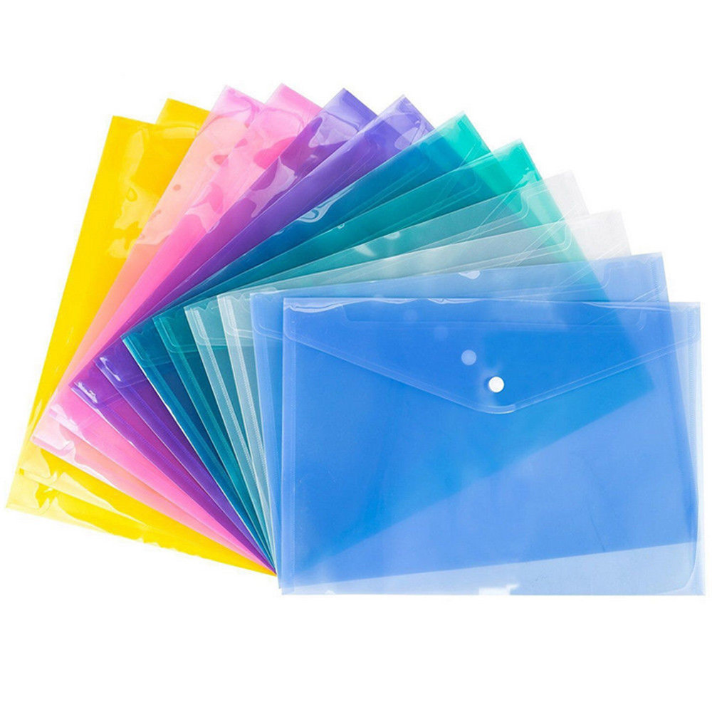 A4 Transparent Document Folder File Folder Stationery School Office Cover 6 Colors Students Premium Gift