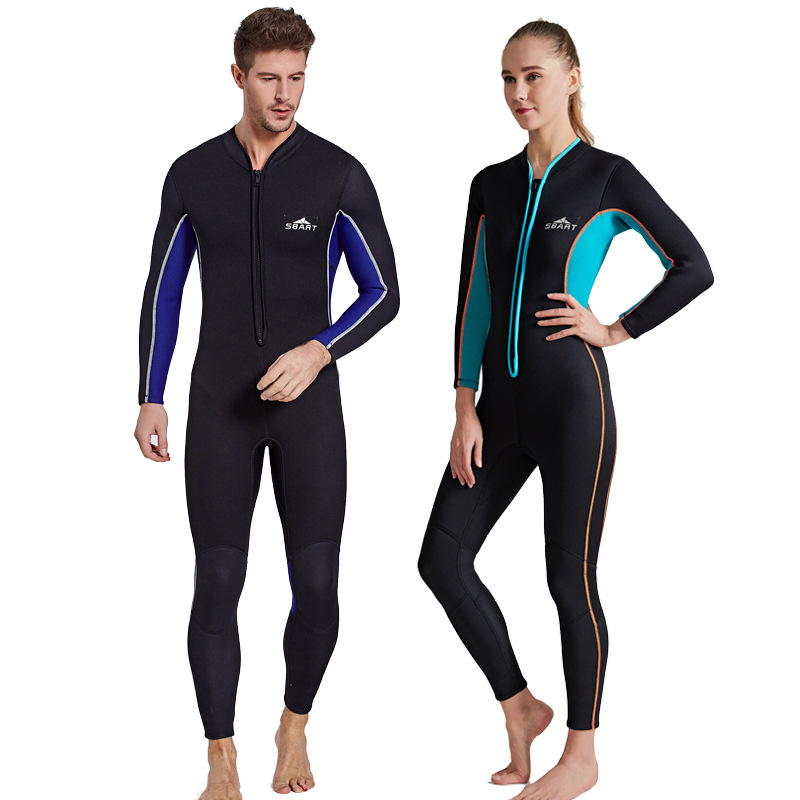 sbart 3mm neoprene men's long sleeve one piece diving wetsuit women's scuba diving suit wetsuit spearfishing suit sbart upf50 rashguard 2 bodyboard 1006