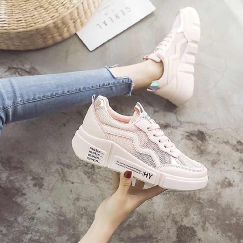 Schuhe frauen 2019 sommer mode neue mesh sport schuhe casual atmungs spitze weichen boden schuhe