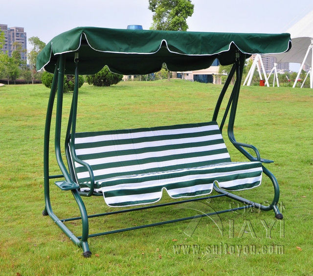 Outsunny Covered Outdoor Porch Swing Bed Hammock Sleeping Leisure Chair With Cushion