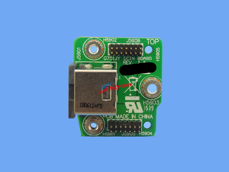 DC IN Power Jack Board for ASUS ROG G751JY-DH71 G751JY-DH72X G751JY-DB73X