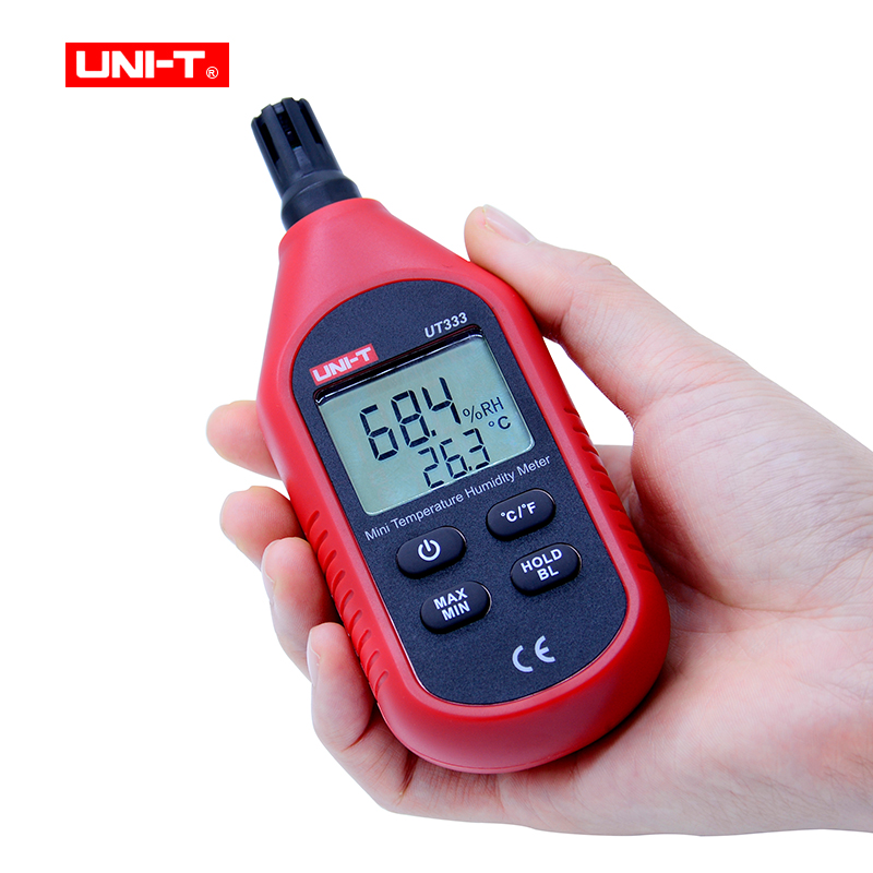 UNI-T UT333 Mini Temperature Humidity Meter Indoor Outdoor Hygrometer Overload Indication Unit Conversion LCD with Backlight indoor air quality pm2 5 monitor meter temperature rh humidity