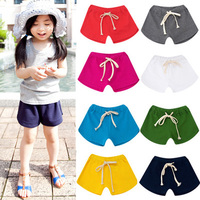 Kz-3722 2017 Summer Wear Korean Concise Catamite Girl Children's Garment Baby Children Tight Pants Shorts Pants Tide