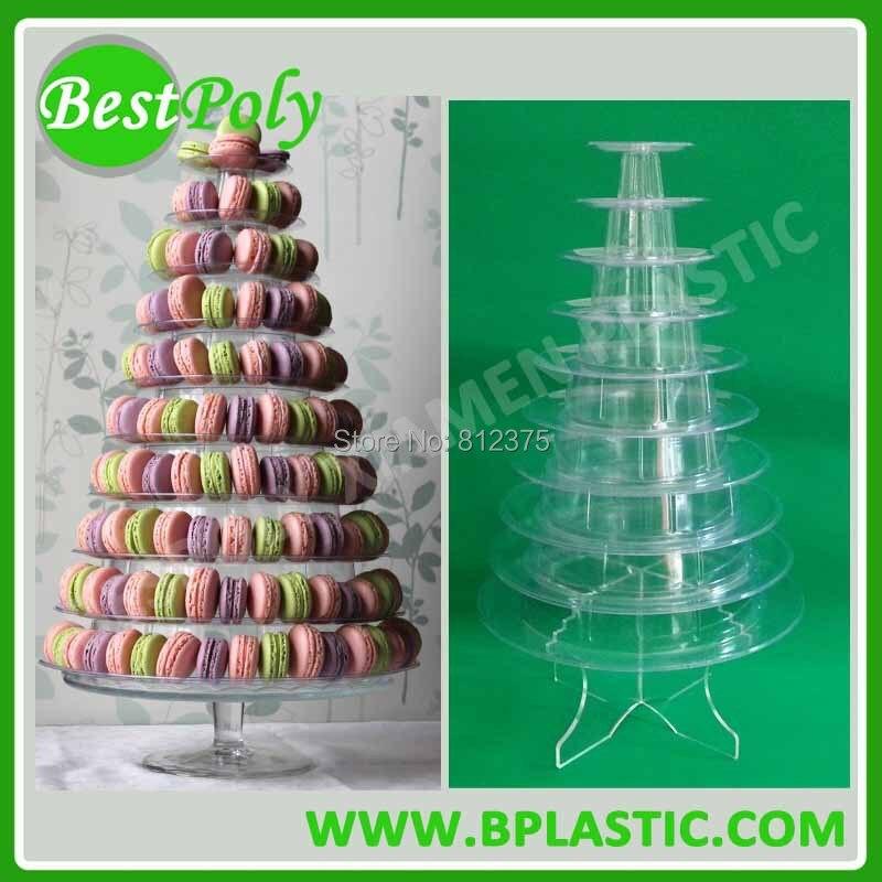 1 sada 10 úrovní držák macaronu, francouzský macaronový displej, macaronský pyramidový displej, doprava zdarma