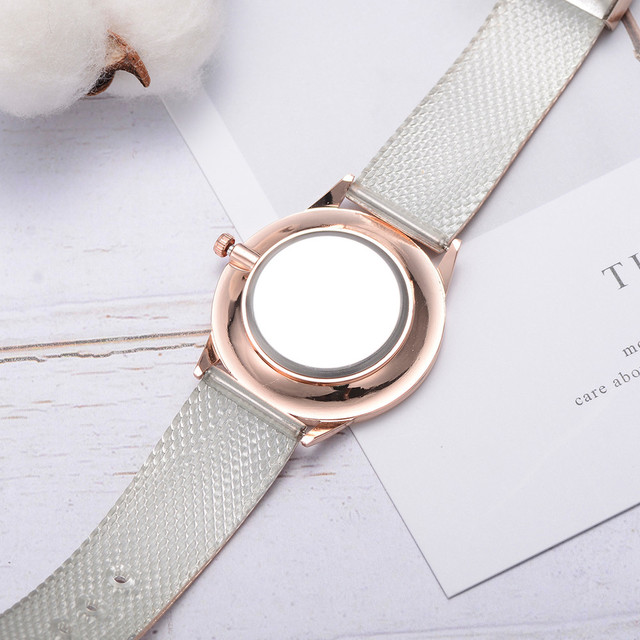 Lvpai Women's Casual Quartz Silicone strap Band Watch Analog Wrist Watch Rose Gold Girls Gold ladies Hot Sale Flowers Dress 5