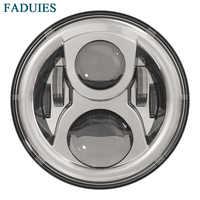 FADUIES 7 inch Projektor LED Scheinwerfer 7 Runde Motorrad LED Scheinwerfer für Harley FLS, FLSTF, FLSTN Touring Trike