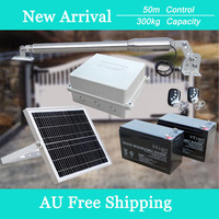 Details About Powaplus Single Swing Gate Opener Electric Solar Powered System 2 Remote Control