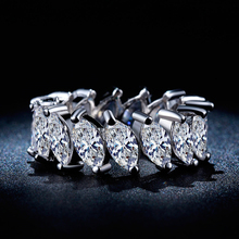 2017 Fashionable Luxury Jewelry Statement Infinity Wedding Ring For Woman White Gold Color With AAA Cubic Zirconia Female Rings
