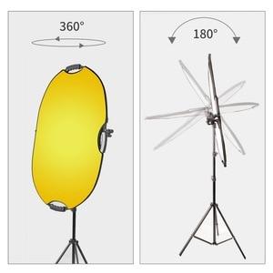 Image 4 - Uchwyt wspornika Selens głowica skrętna reflektor podparcie ramion tarczy z 2m lekki statyw podstawa tła uchwyt do statywu dla