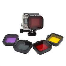 Gopro Accessories Diving Filter Underwater Dive Filtors for Go Pro Hero 3+ 4 Waterproof case Action Camera Accessory