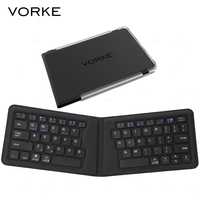 NEW Hot! VORKE K1 Universal Bluetooth Folding Keyboard with Holder for iPad iPhone Android Phone Windows Tablets Windows Phone