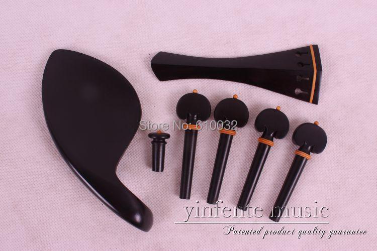 1 세트 4/4 바이올린 흑단 구리 테일 피스 페그 턱걸이 말뚝 # E45