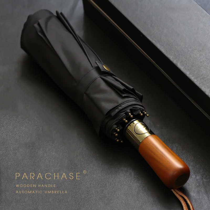 afc32ba0a62d PARACHASE Big Umbrella Men Business Style 115cm Automatic Umbrella ...
