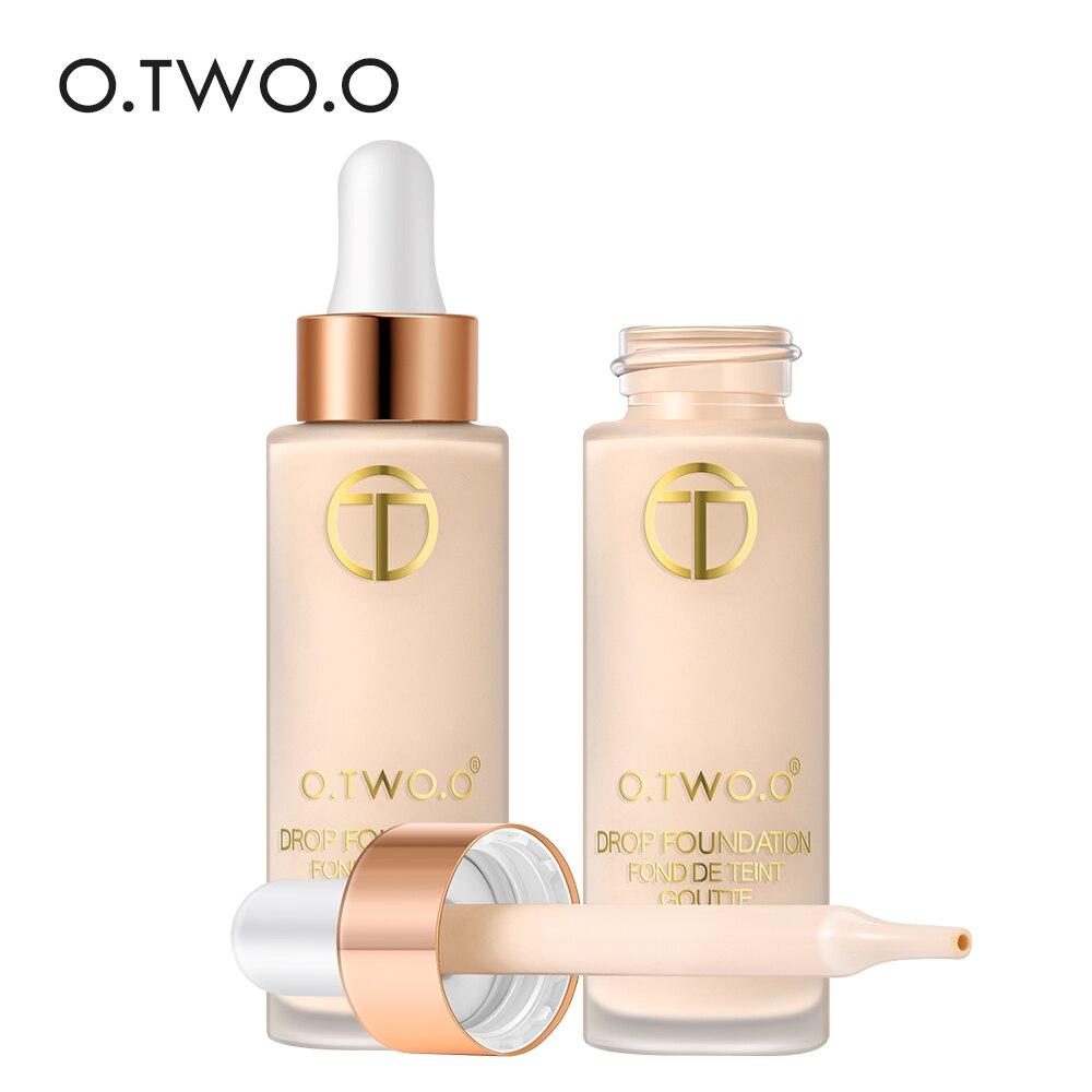 O.TWO.O cubierta completa líquido Fundación maquillaje Base de la cara larga duración Flawless corrector Primer BB crema maquillaje cosméticos 15 ml