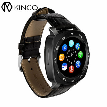 KINCO IPS 240 * 240 Pedometer FM HD Camera SMS Anti-lost Bluetooth Music 2G SIM Phone Call Smart Sports Watch for IOS/Android