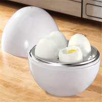 White Ball Shape Microwave 4-6 Eggs Cooker 1