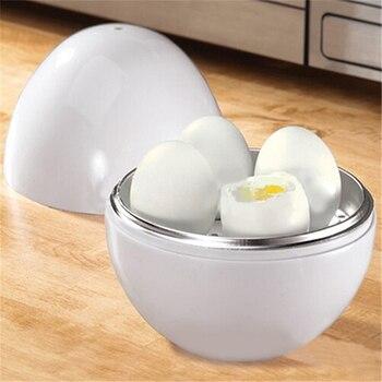 White Ball Shape Microwave 4-6 Eggs Cooker 1