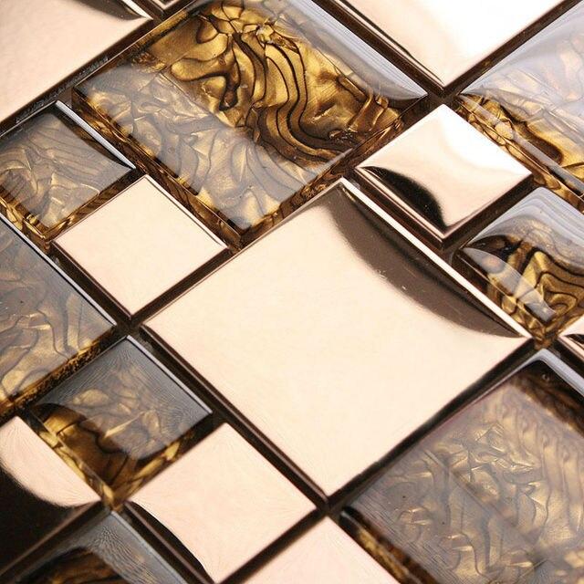 Mattonelle Di Vetro Di Cristallo Perla Shell Modello Mosaico Design Arte In  Acciaio Inox E Vetro With Mattonelle Di Vetro