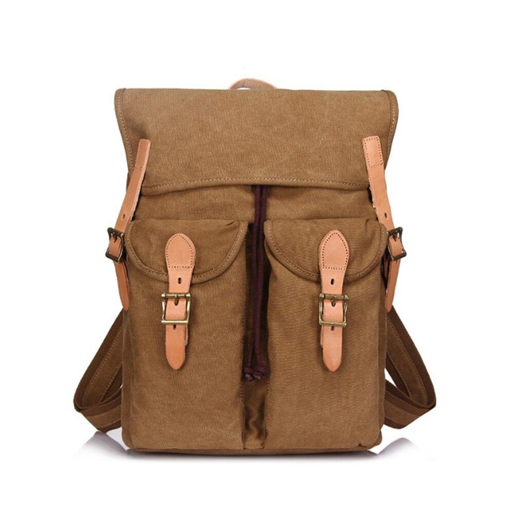 Mens Retro Canvas Bag Big-capacity Travel Backpack Fashion Multi-function Wear-resisting Knapsack Trend Student SchoolbagMens Retro Canvas Bag Big-capacity Travel Backpack Fashion Multi-function Wear-resisting Knapsack Trend Student Schoolbag