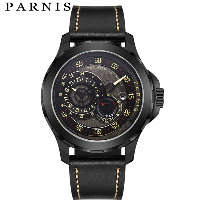 PARNIS Mens Mechanical Automatic Watches Top Brand Luxury Clock Waterproof Watch Fitness Male Wrist Watch Reloj Hombre 2018PARNIS Mens Mechanical Automatic Watches Top Brand Luxury Clock Waterproof Watch Fitness Male Wrist Watch Reloj Hombre 2018