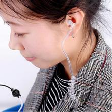 Ear Hook earphones Stereo Monaural 3.5mm Anti Radiation Air Spring Duct Earhook ear Headset For iPhone Samsung All Phone(China)