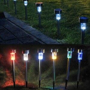 Image 5 - Luces solares de jardín con pinchos, 10 unidades/lote, lámpara solar impermeable, iluminación de paisaje, luces solares para decoración de jardín, patio y césped