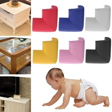 Kids Baby Soft Safety Table Corner Edge Guard Protection Cover Children Multicolor U Shape Mini Stripe Corner(China)
