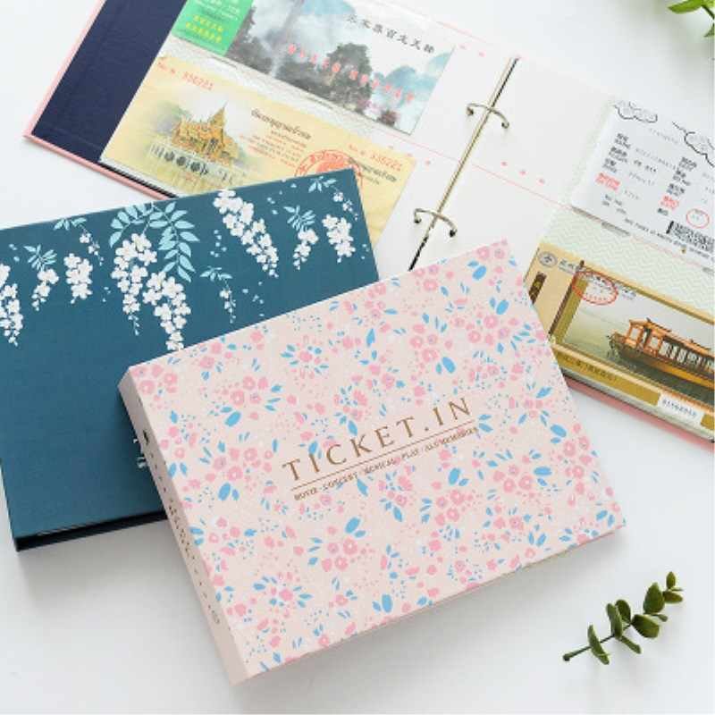 DIY Album Concert Tickets Banknote Collection Loose-leaf Cross Section Paper Album Movie Tickets Collection Album