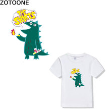ZOTOONE Cartoon Animal Alphabet Printing Patch Clothing Transfer Iron DIY Childrens T-shirt heat transfers for clothes patch D