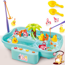 Fishing Toys For Kids Rotating 19.5*22*32cm Fish Game Plastic Parent-Child Interactive Table Games Hand-Eye Coordination Toys