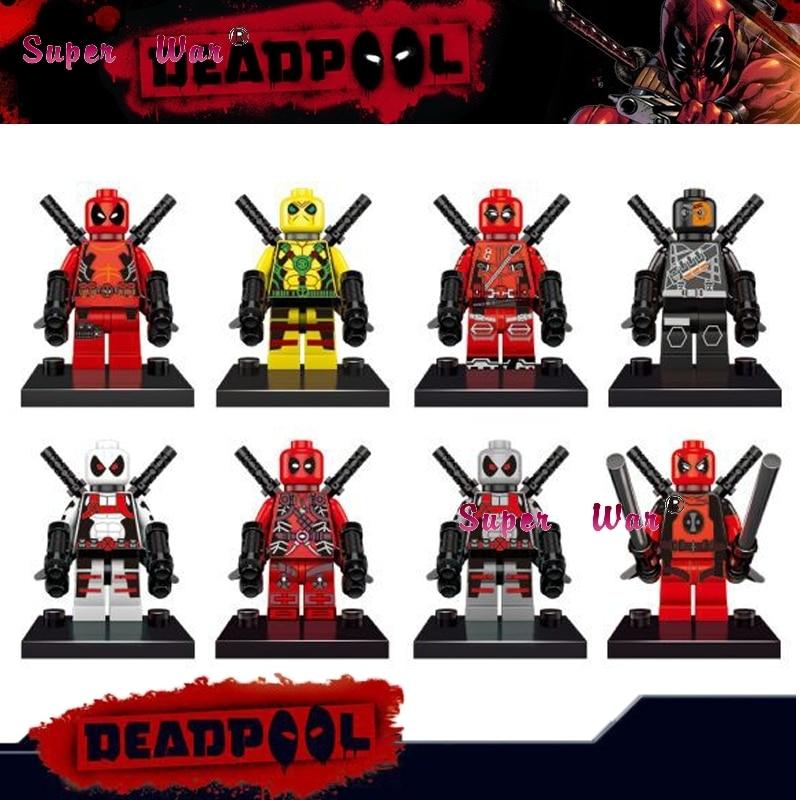 Generous Single Sale Superhero Marvel Avengers Armor Deadpool Assemble X-men Building Blocks Sets Model Bricks Toys For Children Fashionable Style; In