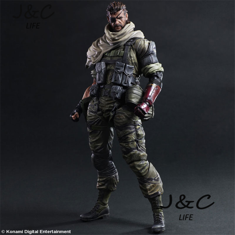 New Metal Gear Solid 5 Snake Action Figure Game Figure 27cm PVC Model Collect Anime Model Toys kids toys For Gift 24cm pvc deadpool action figure breaking the fourth wall scene dead pool kids birthday christmas model gift toys