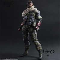 New Metal Gear Solid 5 Snake Action Figure Game Figure 27cm PVC Model Collect Anime Model Toys kids toys For Gift