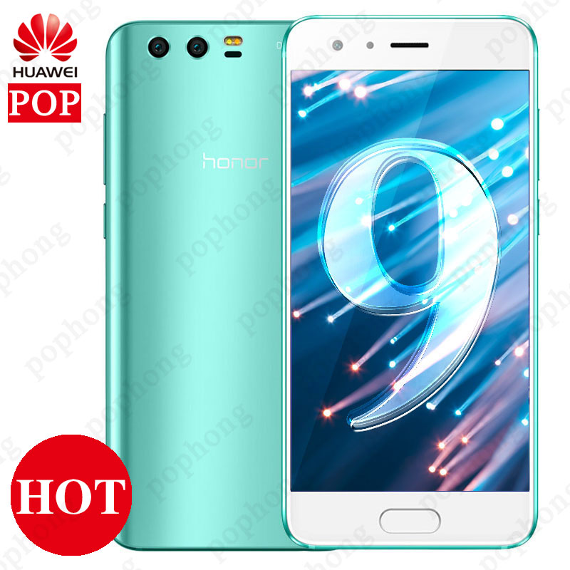 Global Firmware Huawei Honor 9 3D Curved Glass OTA Update LTE Smartphone Octa Core 2 3GHz