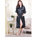 2016 Silk Kimono Robe Bathrobe Women Satin Robe Long Silk Robes For Women Night Sexy Robes Night Grown For Bridesmaid Summer
