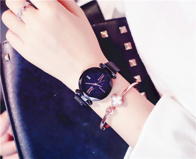 Charming Purple Women Watches Minimalism Casual Starry Sky Lady Wristwatch Magnet buckle Fashion Luxury Brand Female Watch Gift 11