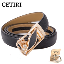 Automatic Buckle High Quality Leather Belt For Women