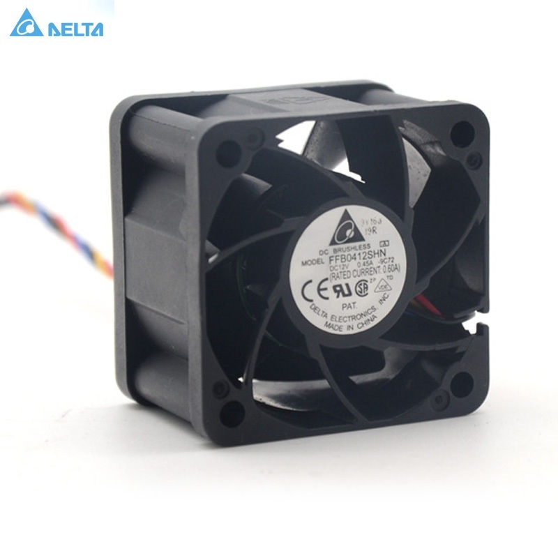 Delta FFB0412SHN 4028 40MM 1U 2U server Cooling fan 12V 0.45A pwm original delta afc1212de 12038 12cm 120mm dc 12v 1 6a pwm ball fan thermostat inverter server cooling fan
