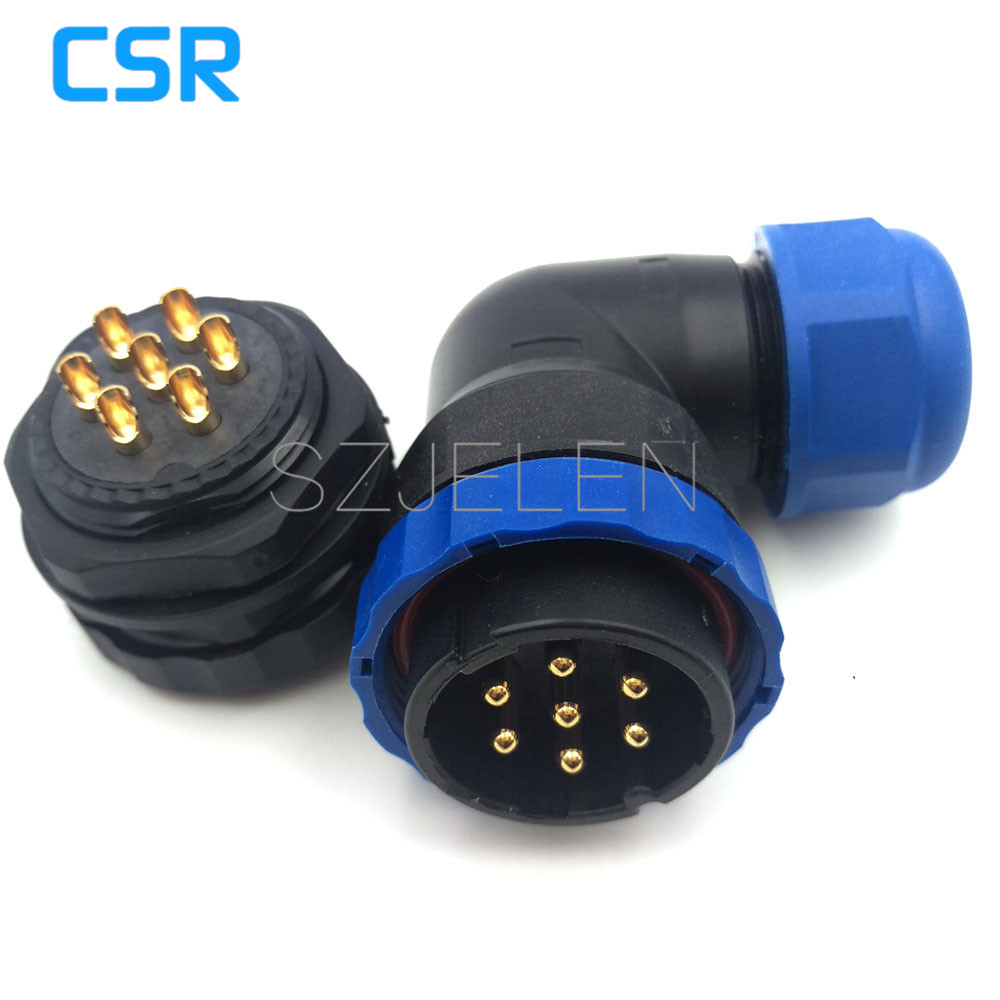 SD28TA-ZM, waterproof connector 7 pin, IP67, LED wire Panel Mount connectors, Electrical equipment power connector plug socket sp2110 5 pin waterproof connectors plug and socket industrial power panel mount connectors waterproof and dustproof connector