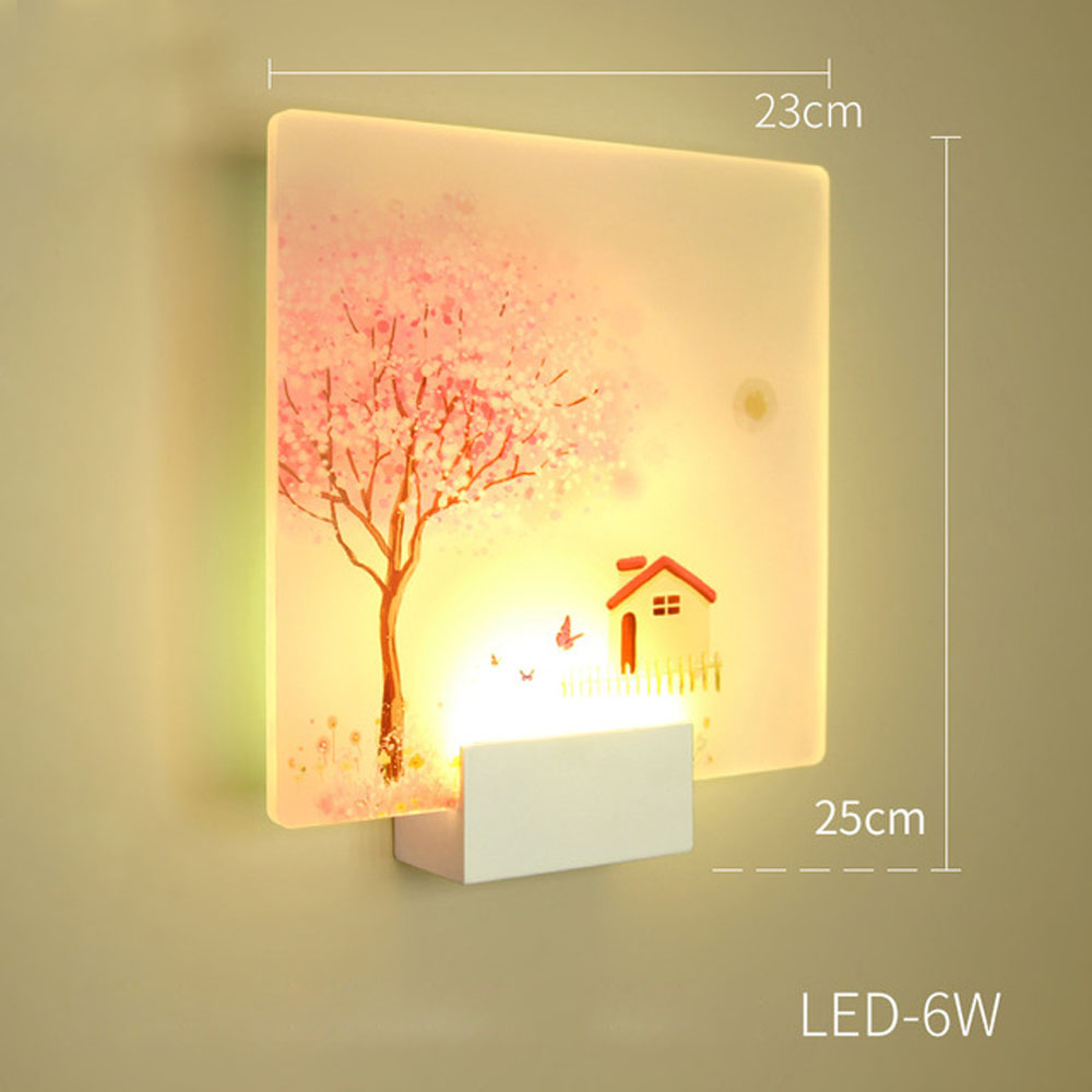 Led Indoor Wall Lamps Honesty Tree And House Wall Lamp For Bedside Bedroom Stair Corridor Porch Nordic Home Led Lighting To Make One Feel At Ease And Energetic